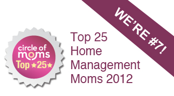 I'm in Circle of Moms Top 25 Home Management Moms - 2012