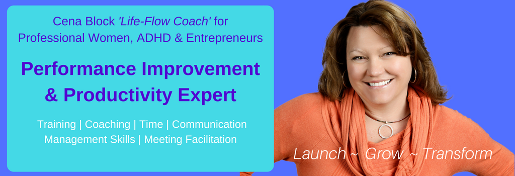 Cena Block Productivity & Performance Expert, Lifestyle Flow Coach, Mompreneur & ADHD