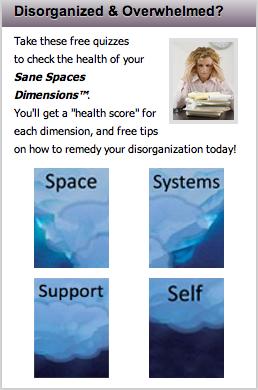 SaneSpaces.com Sanity Dimensions Health Quiz