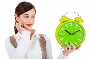 Woman with Clock/time management/sanespaces.com