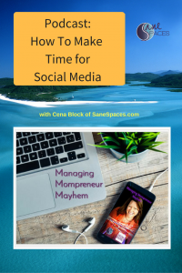 How To Make Time for Social Media|Podcast|SaneSpaces.com