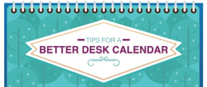 Tips for a better desk calendar/sanespaces.com