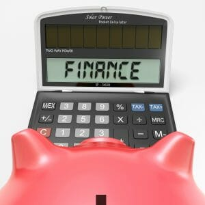 inance Calculator Showing Money, Commerce And Accounting